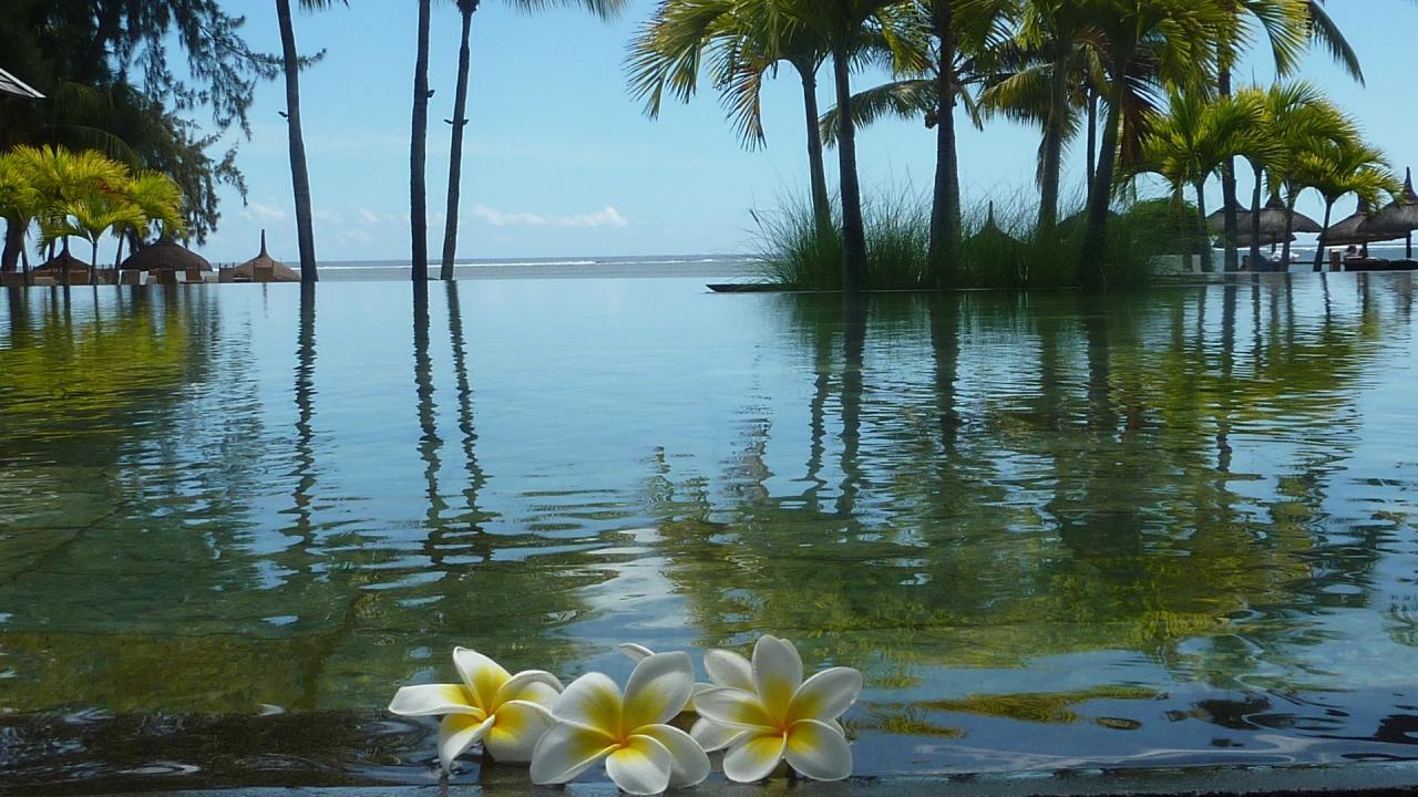 Lagon à l'Île Maurice