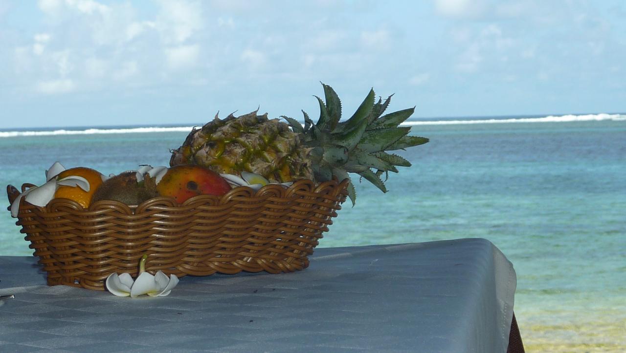 Panier de fruits à l'ÎLE MAURICE
